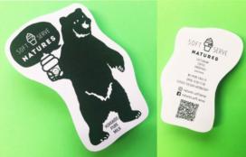 natures softserve 様 型抜きショップカード