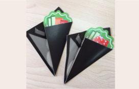 手巻き寿司風 三つ折りメッセージカード